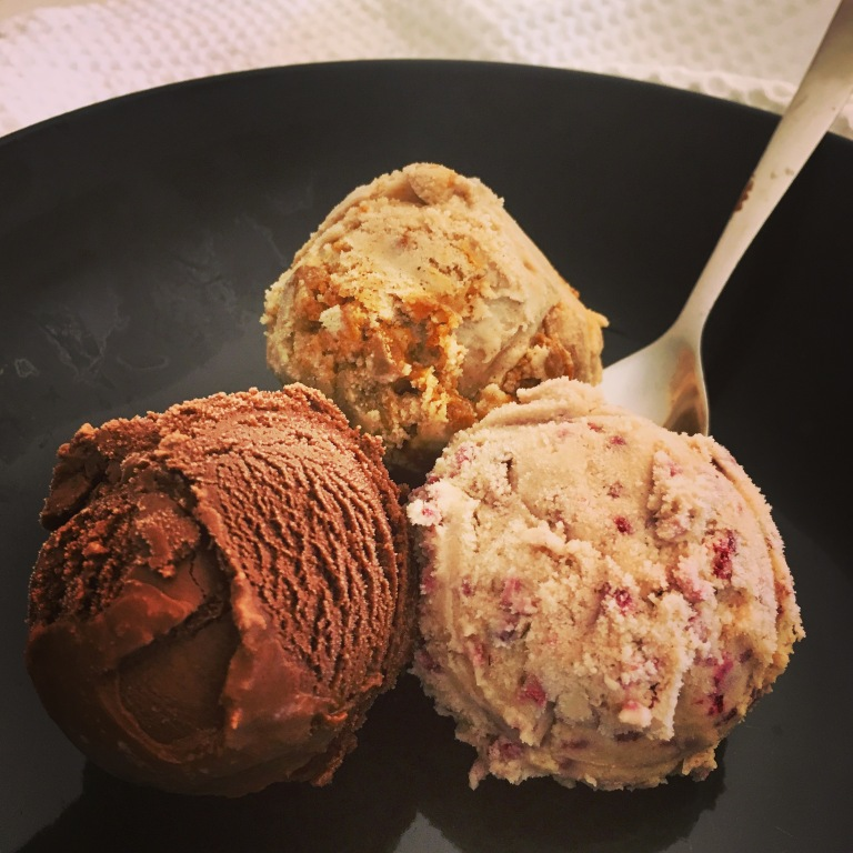three flavor ice cream