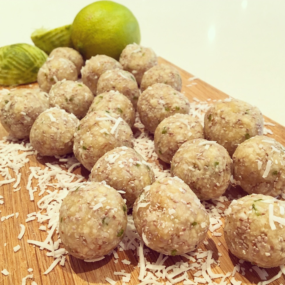 Lime coconut balls