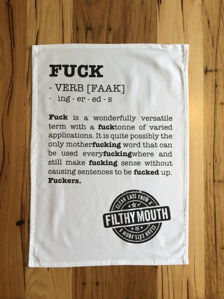 fuck-verb-tea-towel